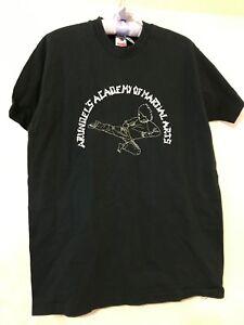 RARE 90'S  Martial Arts BLACK TEE SHIRT 'ARUNDELS ACADEMY OF SELF DEF. T Shirt L