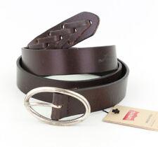 Levi ´ S Cintura in pelle 223198 Marrone Scuro Taglia 85 Cm (Larghezza 2,5 Cm)
