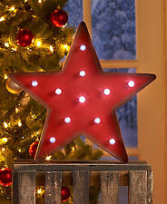 CHRISTMAS Holiday MARQUEE DECOR STAR with lights, NEW!