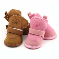 4Pcs Cat Dog Boots Anti-Slip Puppy Shoes Pet Dog Protective Snow Booties Winter