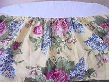 VTG Martha Stewart Queen Bedskirt Cottage Floral Multi-Color Romantic Chic