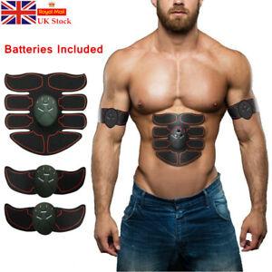 Battery EMS Toning Belt Electronic Muscle Stimulator Abdominal Training Toner UK