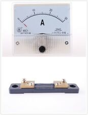 1Set of 85C1 DC 0-30A and Shunt Analog AMP Panel Meter current Ammeter