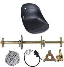 "32"" Drift Trike ATV Rear Axle Kit Sprocket & Hub + Brake Assembly + Go kart Seat"