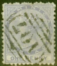 More details for dominica 1874 1d lilac sg1 good used