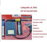 Lafayette kit saldatura 30W stagno portasaldatore pompa dissaldante JL-002 NUOVO