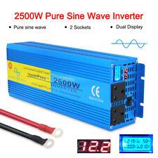 2500W/5000W Pure Sine Wave Power Inverter DC 12V to AC 230V Caravan Converter