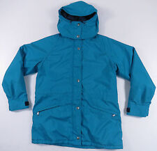 VTG WOOLRICH TETON GORE-TEX AQUA BLUE FLEECE LINED HOODED ANORAK JACKET COAT S