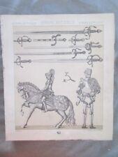 Vintage Print,ARMES ET ARMURES,CASQUESdemi ARMUR,Costume,Historique,1888,Racinet