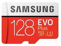 128GB Micro SD SDXC Samsung EVO Plus UHS-I U3 Card with Adapter