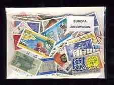 EUROPA CEPT 200 timbres différents oblitérés