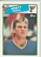 Brett Hull 1989-90 Topps Hockey Rookie Card #66