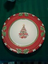 "Htf Christopher Radko Letters To Santa 11"" Dinner Plate Christmas Tree"