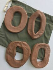 1958 Us Navy 2 Pair Leather Ear Pad Covers Phone Housing Green Nylon Bag Aph-5,6