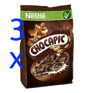 Nestle CHOCAPIC Chocolate cereal with vitamins 3 x 250g Shipping Worldwide