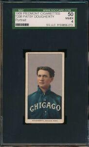 1909 - 1911 T206 Patsy Dougherty Portrait 150 Subjects Piedmont SGC 4 Not PSA