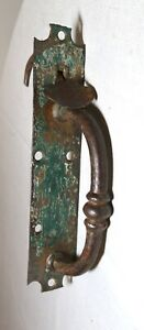 antique 18th century hand wrought iron door hardware handle salvage 1700's