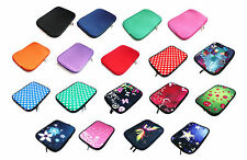"""Neoprene Sleeve Zip Case Cover for 5"""" to 16"""" Inch Size Tablets Chromebook Laptop"""