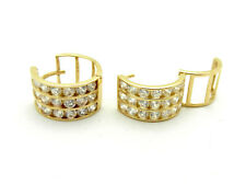 Real 14k Yellow Gold Hoop Huggie Style Girls Small Size Earrings