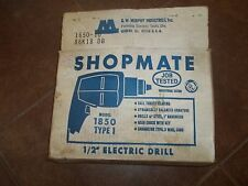 """vintage shopmate 1/2"""" drill - working condition, retro styling"""