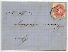 MARQUE POSTALE UDINE AVEC COURRIER POUR MOLINE 1864