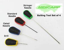 Mdi carp 4pc appâtage aiguille outil set pour carpes, barbeaux, grossier pêche