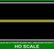 HIGHWAY STREET ROADBED BLACK MATTE STRAIGHT FOR 1/87 HO SCALE TRAIN GARDEN LAYOU