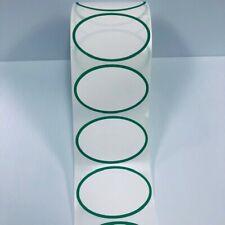 Thermal Transfer Green Oval Border 500 Labels 1 Core Zebra Datamax Printers