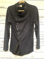 TheLees Mens Button Front Cardigan Top Sz M Blue Black Long Sleeve Sweater