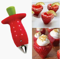Strawberry Berry Stem Gem Leaves Huller Removal Fruit Corer Kitchen Tool New
