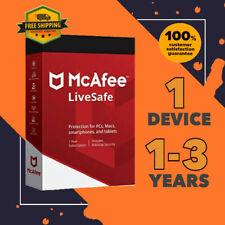 McAfee LiveSafe Antivirus 1 Device PC | 1 to 3 Year GLOBAL