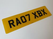 21x6 large rear road legal Number Plate 100% MOT Compliant free post