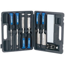 Draper Expert Wood Chisel Set with Honing Guide and Sharpening Stone 8 Piece