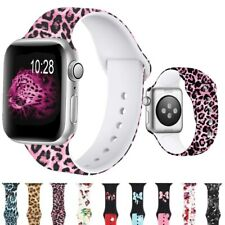 for Apple Watch Strap Band Series 6 SE 5 4 3 2 1 Pattern Printed Silicone Strap