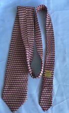 VINTAGE HERMES #7082 OA Made In France 100% SILK TIE  Multi Color Tie.
