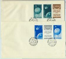 82825 -   ROMANIA  - Postal History - Set of 2 FDC COVERS 1957 - SPACE