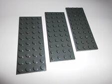 Baukästen & Konstruktion LEGO Bausteine & Bauzubehör 2x Lego 3475 Platte 1x2 mit seitlicher Düse Turbine Antrieb Alt Dunkelgrau