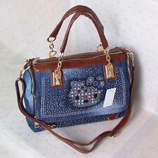 HelloKitty Crystals Messenger Cross body Handbag Shoulder Bag 2018  New Blue