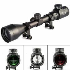 CVLIFE 3-9X50 AOE Red&Green Illuminated Crosshair Rifle Scope +20mm Rail Mounts