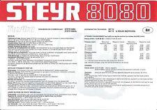 Farm Tractor Brochure - Steyr - 8080 - c1983 - FRENCH language (F4594)