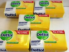 5 X 70g Yellow Pack DETTOL FRESH Anti Bacterial Bar Soap USA SELLER FAST S&H