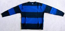 MEN'S VINTAGE STUSSY STRIPED SWEATER. 100% LAMB'S WOOL. L