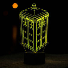 Doctor Who Tardis Night Light 7 Color Change LED Desk Lamp Touch Room Decor Gift