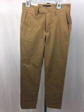 Mens Boys 26 Quality User Dark Khaki Style Pants Nwt