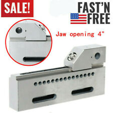 """Wire Edm Jaw High Precision Vise Stainless Steel Hardened Fixture 4"""" Jig"""