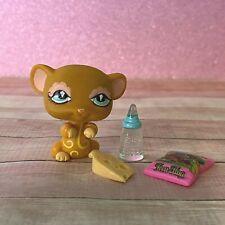100% AUTHENTIC Littlest Pet Shop LPS #462 Brown Mouse w Accessories
