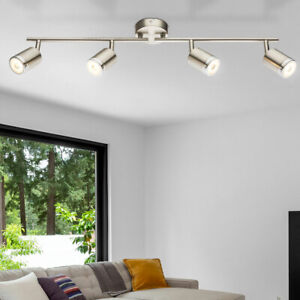DEL Plafonnier Éclairage salon ESS Chambre Spot lampe éclairage verre pivotant chrome
