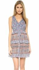 TWELFTH STREET BY CYNTHIA VINCENT Ginger Multi Double Tier Dress Size 4 NWT $345