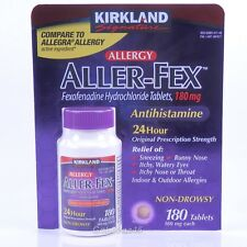 Aller-Fex Fexofenadine 180mg 24hr Antihistamine 180 Tabs Allergy Relief