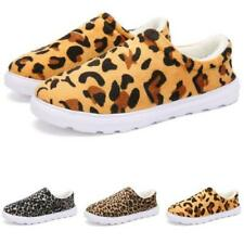 Mens Leopard Fur Lined Casual Winter Home Indoor Slippers Warm Shoes Slip on D